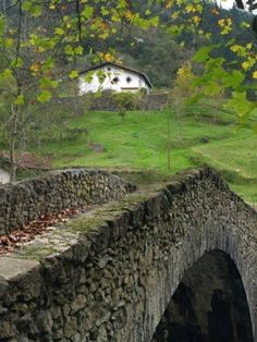 Rural Basque Country landscape.