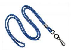 2135-3072 Royal Blue Round Lanyard with Black-Ox Swivel Hook