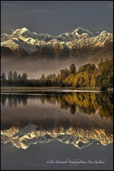 Lake Matheson World Heritage New Zealand. Fox Glacier, Westland Tai Poutini National Park Photo: Colin Monteath