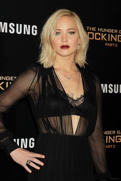 Jennifer Lawrence attending The Hunger Games Mockingjay Part 2 New York Premiere - November 18/ 2015
