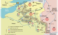 Map of The Western Front. An amazing resource, this map allows you to learn in detail about the different types of terrain and battle fought across the Western Front.