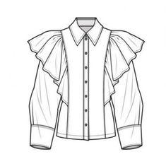 70 Super Ideas For Fashion Sketches Shirt Technical Drawings – fashion Portfolio Mode, Fashion Portfolio, Portfolio Ideas, Fashion Design Drawings, Fashion Sketches, Drawing Fashion, Shirt Sketch, Shirt Drawing, Drawing Drawing