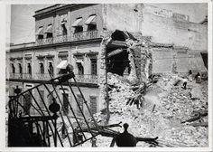 Ruinas del Palacio Federal y hueco en el Banco d Zacatecas.
