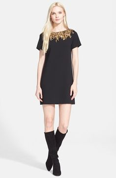 Alice + Olivia 'Inara' Embellished Sheath Dress available at #Nordstrom