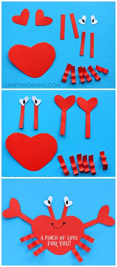 35 Unique Valentine's Day Crafts And Treats For Toddlers and Preschoolers Ideas . 35 Unique Valentine's Day Crafts And Treats For Toddlers and Preschoolers Ideas – HOOMDESIGN Kids Crafts, Valentine Crafts For Kids, Daycare Crafts, Valentines Day Activities, Classroom Crafts, Preschool Crafts, Holiday Crafts, Craft Projects, Crab Crafts