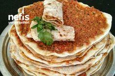 Ev Yapımı Lahmacun Tarifi Lunch Recipes, Real Food Recipes, Great Recipes, Dessert Recipes, Yummy Food, Healthy Recipes, Turkish Recipes, Ethnic Recipes, Brownie Cookies