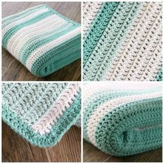 This is gorgeous afghan with random stripes, and it's all double crochet!  A great beginner blanket or first project.  There's a link to the random stripe generator in the post.