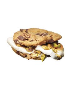 S'mores Upgrade: Chocolate Chip Cookies With Marshmallows and Pistachios