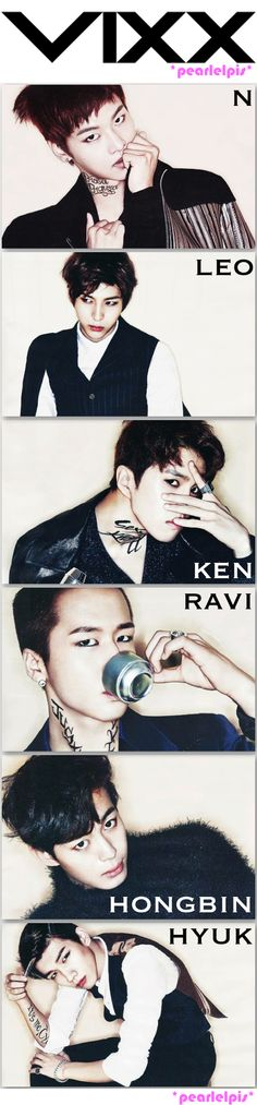 VIXX - The Star Magazine 2014 that tattoo makes ravi look sexy as hell!