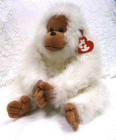Ty MANGO Plush White Orangutan Monkey #7100 and 50 similar items - Bonanza