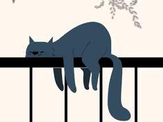 Sleeping 😴 cat by Abhishek kasegaonkar Anim Gif, Gif Animé, Cat Design, Animal Design, Logo Design, Gifs, Cute Cat Gif, Cute Cats, Frame By Frame Animation