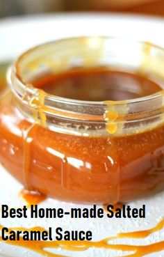 Idea Delicious: Best Home-made Salted Caramel Sauce – Easy Recipes Yummy Caramel Sauce Easy, Salted Caramel Desserts, Salted Caramel Sauce, Caramel Recipes, Candy Recipes, Caramel Apples, Carmel Cream, Cake Cafe, Desserts