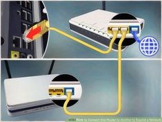 How to Connect One Router to Another to Expand a Network. This wikiHow teaches you how to add a secondary router to your home or small business network. If you want to add more computers or other devices to your home or small business. Internet Router, Computer Router, Computer Internet, Wifi Router, Wireless Router, Computer Repair, Computer Tips, Web Internet, Computer Basics