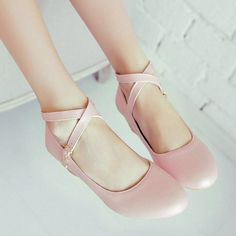 Cute Ballet Criss Cross Flats SD00489