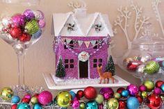 Cute glitter houses...How to