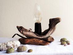 DRIFTWOOD LIGHT / LAMP  Beach Decor  Handmade Eco by FeelFeltFelt, €30.00