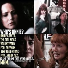 i loved that Francis Lawrence included Annie in the reaping