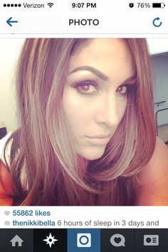 Nikki Bella's hair. Love the cut and color!!