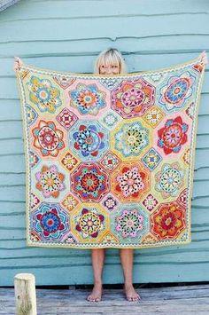 Persian Tiles - Eastern Jewels - Stylecraft Blanket Pack – Deramores US Crochet Afghans, Motifs Afghans, Afghan Crochet Patterns, Knit Crochet, Crochet Blankets, Crochet Kits, Manta Crochet, Crochet Motif, Crotchet