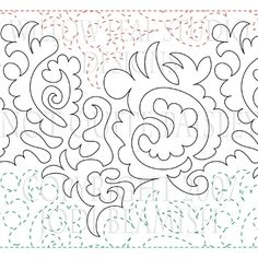 Not Quite Paisley design file for use with computerized machine quilting systems. Longarm Quilting, Free Motion Quilting, Paisley Design, Paisley Pattern, Line Patterns, Quilt Patterns, Single Line Drawing, Willow Leaf, Crochet Leaves