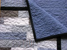 The perfect baby quilt for a little man! Upcycled from men's dress shirts.