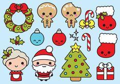 Premium Vector Clipart  Navidad de Kawaii  Clipart de