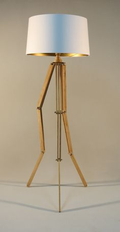 Walnut Wood Tripod Austin Floor Lamp Base | All things Ron Swanson ...