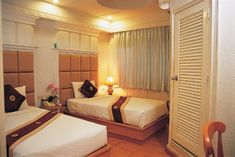 Feel relax and comfortable at our hotel 🏨 where you can find satisfaction when it comes to hospitality 😉👌. Affordable Hotels, Bus Terminal, Thailand Travel, Bangkok Thailand, Night Life, Guest Room, Relax, Bed, House