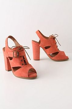 a9278adddb0 Anthropology Floridian Oasis Heels Coral Heels, Orange Heels, Oasis Heels,  Affordable Clothes Online