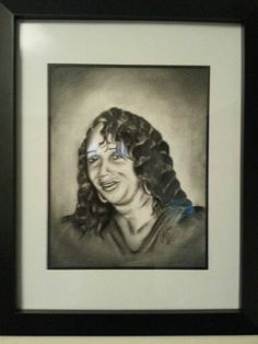 Charcoal of my mom.