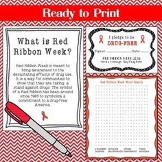 Red Ribbon Week 2019 Pack (free update for by Hanging with the Counselor School Spirit Days, What Is Red, Red Ribbon Week, Student Council, Drug Free, School Counselor, Just Do It, Counseling, Drugs