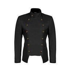 40763df51ee JINIDU Men s Casual Double-Breasted Suit Coat Jacket Business Blazers  (Black
