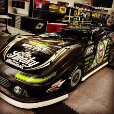 Good looking Scott Bloomquist Dirt Late Model in the @FiveStarBodies booth at #PRI2014