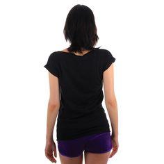 Czarna koszulka damska 'Patriotic' - tył ---> Streetwear shop: odzież uliczna, kibicowska i patriotyczna / Przepnij Pina!