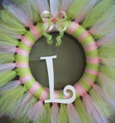 Tulle Tutu Ballerina Princess Wreath with Wooden by KraftinMommy by roxydelisio
