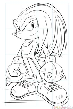 Just Coloring Pages: Knuckles the echidna coloring pages Amazing Coloring sheets - While slower than Sonic, Knuckles is depicted as one of the series' strongest characters and a skilled martial artist: his brawny physique allows him . Pikachu Coloring Page, Pokemon Coloring Pages, Cartoon Coloring Pages, Coloring Book Pages, Coloring Pages For Kids, Coloring Sheets, Superhero Coloring Pages, Printable Adult Coloring Pages, Steven Universe Drawing