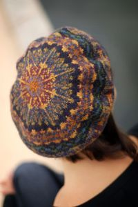 Midnight Tam ~ pattern from Jamieson's of Shetland with a list of the colours which are used here.