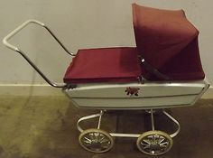 #Vintage #1960s/1970s metal raleigh doll's pram with original hood & #cover,  View more on the LINK: http://www.zeppy.io/product/gb/2/141838423282/