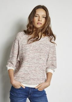 Nouvelle Collection SWEAT OUASSIM FANTAISIE S POPPY/S ROW/OFF W - Ekyog