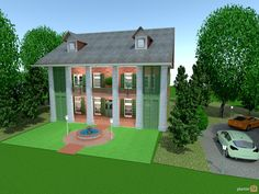 Planner 5D - Shadows Style, made a smaller version of my favourite house 'shadows on the teche' in Louisiana. concentrated on the outside mainly.