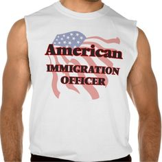 American Immigration Officer Sleeveless T-shirts Tank Tops