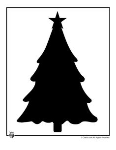 Printable Christmas Templates, Shapes and Silhouettes Christmas Tree Template – Craft Jr.