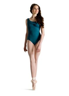 Looks great in the front, but not so sure about the back. Mirella Twist Front Tank Leotard