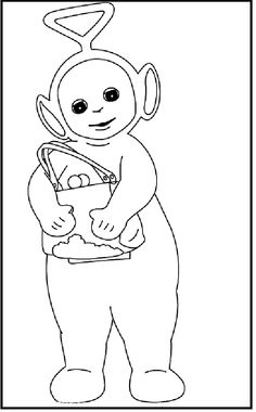 Teletubbies Tinky Winky coloring picture for kids