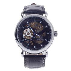 CJIABA GK8021 Double-Sided Skeleton Automatic Analog Men's Wrist Watch