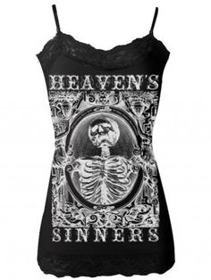 "Women's ""Heavens Sinners"" Cami by Se7en Deadly (Black)"