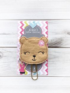 A personal favorite from my Etsy shop https://www.etsy.com/listing/513008361/bear-paper-clip-bear-paperclip-planner