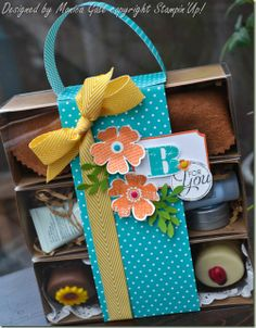 Stampin'Up! Flower Shop Tag a Box gift stack