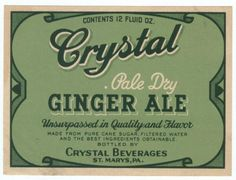 vintage label Vintage Packaging, Vintage Branding, Vintage Labels, Vintage Cards, Vintage Images, Victorian Life, Vintage Typography, Ginger Ale, Beer Label