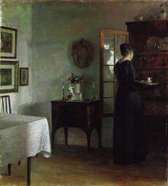 """A Quiet Morning"" Carl Vilhelm Holsoe, Danish (1863-1935)"